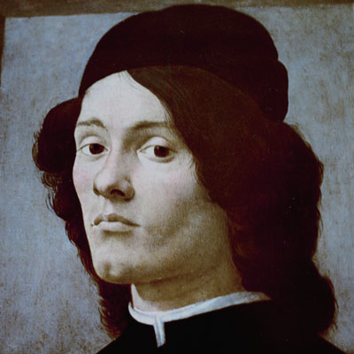 portrait of a young man, 15 C Italy, school of Boticelli, Louvre Museum